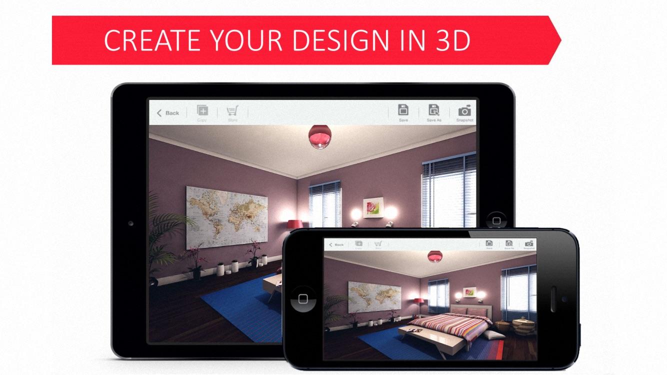 Bedroom 3D for IKEA - House Interior Design Plan