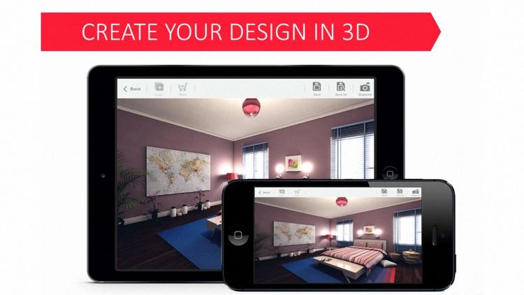 3D Bedroom for IKEA: Room Interior Design Planner