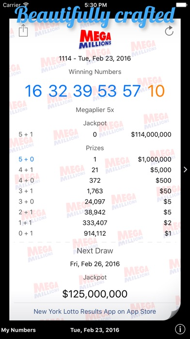 Mega Millions Results By Saemi review screenshots