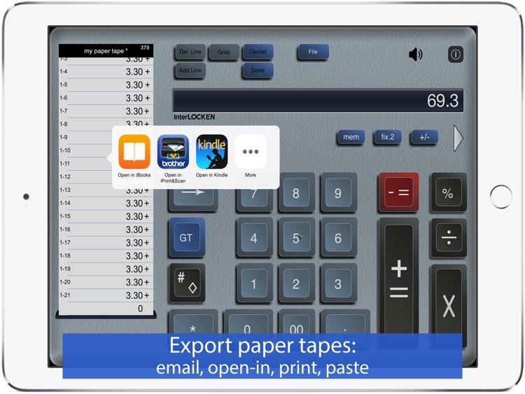 Adding Machine: 10 Key Calc HD screenshot-3