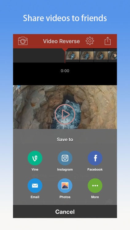 Video Reverse Pro - Rewind, backward movie editor for vine & instagram screenshot-3