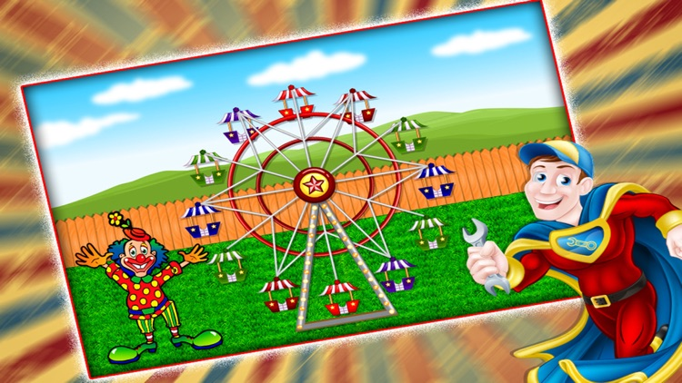 Circus Carnival Hero Rescue game - Call 911 and rebuild the