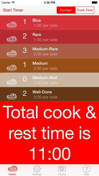 Steak Timer - Relax and cook perfect steaks!