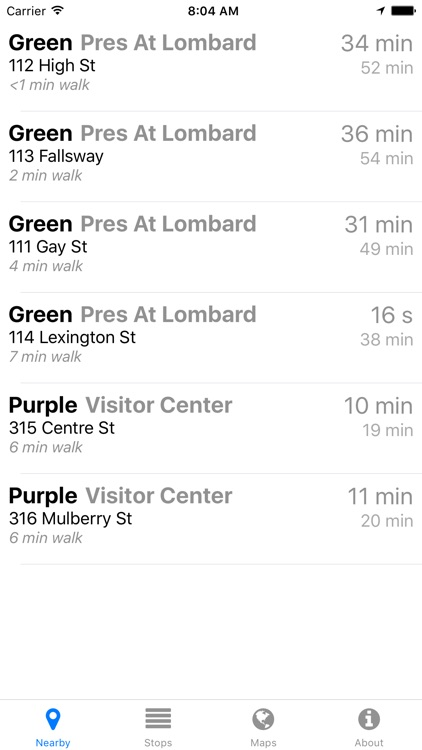 Charm City Circulator Now - Real-time Transit Arrivals