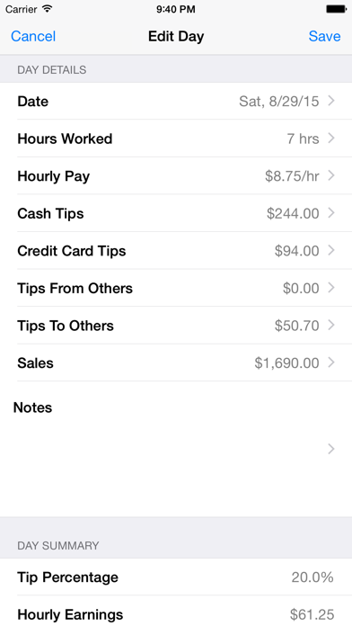 Tip Sheet review screenshots