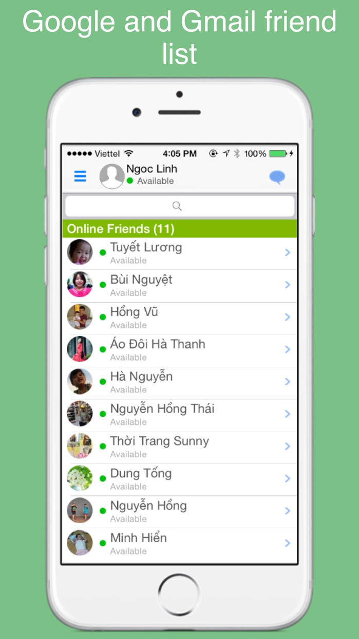 gt chat for Google Hangouts chat, call, gtalk Screenshot