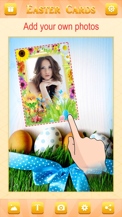 Happy Easter Greeting Card.s Maker - Collage Photo & Send Wishes with Cute Bunny Egg Sticker screenshot-3