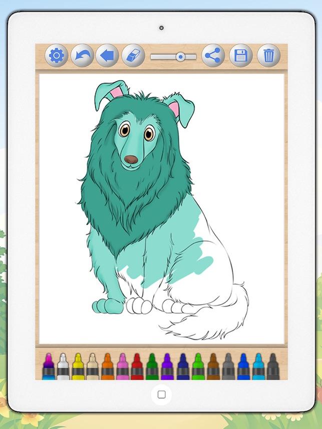 Pintar Desenhos Cao Cachorros Jogos Educativos Para Criancas Na