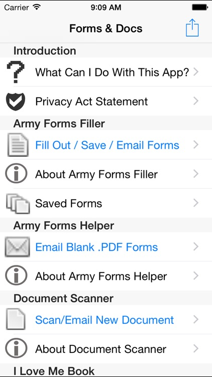 Soldier Forms and Documents