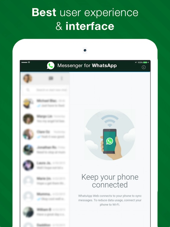 Chat for WhatsApp - Messenger for iPad Free Version
