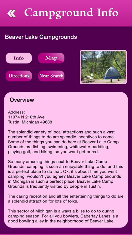 Michigan Campgrounds and RV Parks screenshot-2