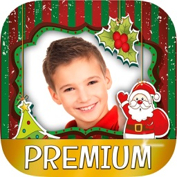Christmas photo frames  for kids - Photo editor to create xmas cards for children and babies - Premium