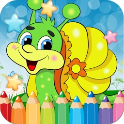 Snail Drawing Coloring Book - Cute Caricature Art Ideas pages for kids