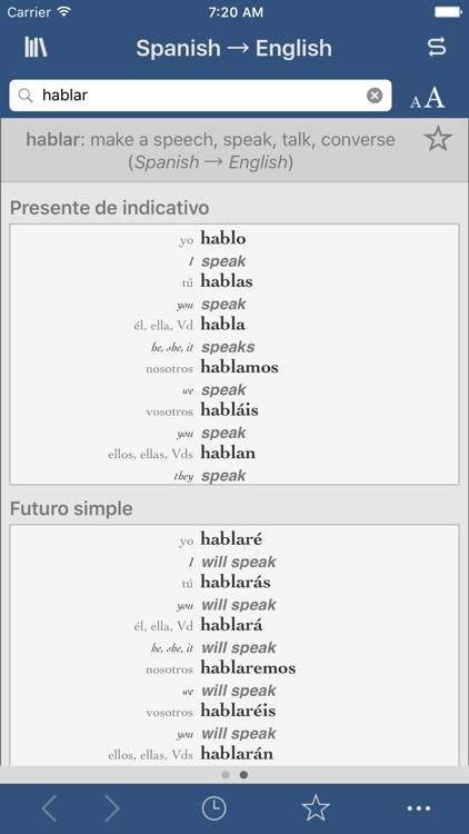 Spanish-English Translation Dictionary and Verbs