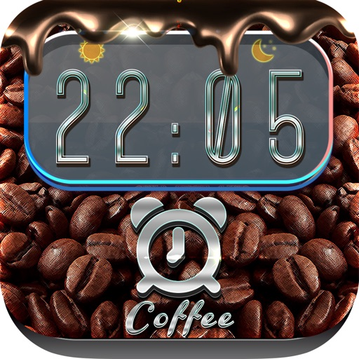 iClock – Coffee : Alarm Clock Wallpapers , Frames and Quotes Maker For Pro