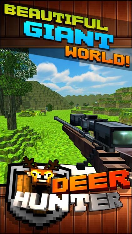 Wild Deer Hunt-ing Survival Pixel World 2016 - Mini Hunter screenshot-3