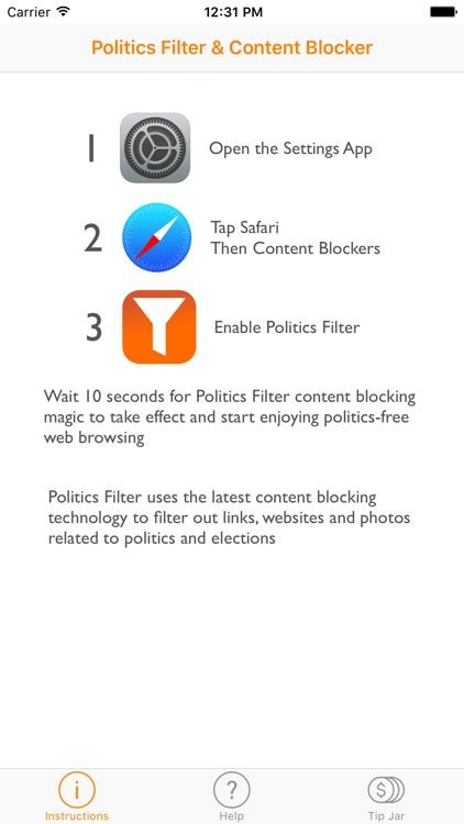 Politics Filter