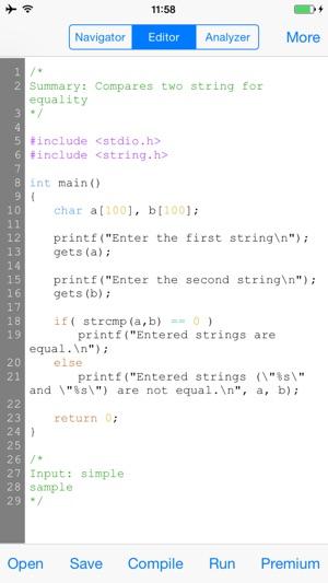 CppCode - offline C/C++ IDE & Compiler on the App Store