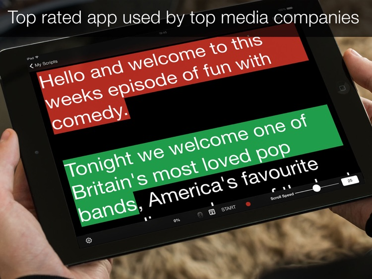 Teleprompter Pro - Scripts, Lyrics & Speech Mirror Prompter screenshot-4