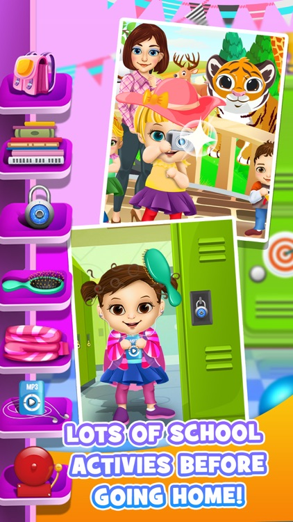 First Day of School - Baby Salon Make Up Story & Makeover Spa Kids Games! screenshot-4