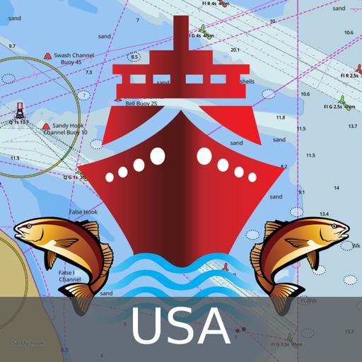 Marine Navigation - Lake Depth Maps - USA - Offline Gps Nautical Charts for Fishing, Sailing and Boating app logo