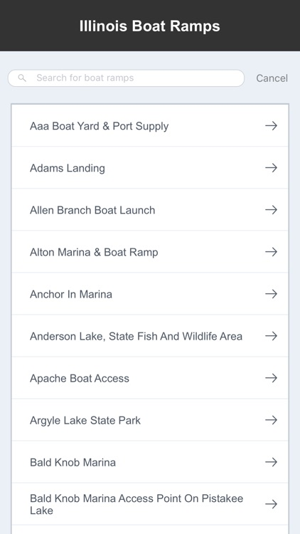 Illinois Boat Ramps & Fishing Ramps