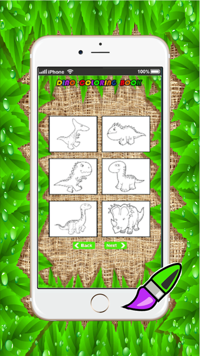 dino coloring book games : learning basic drawing and