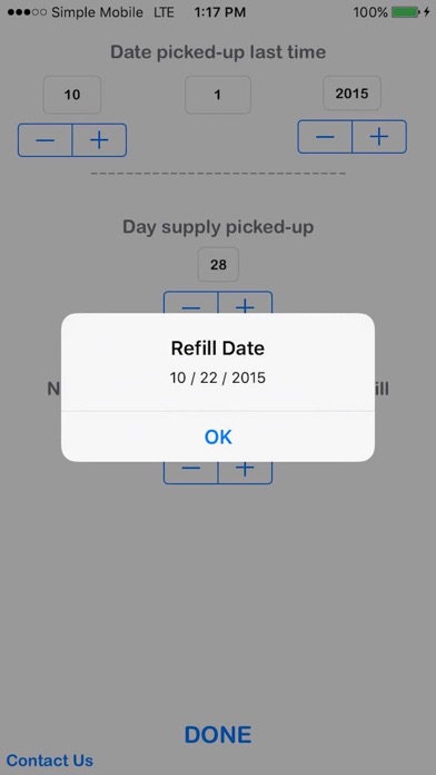 Refill Due Date Calculator App Report on Mobile Action - App