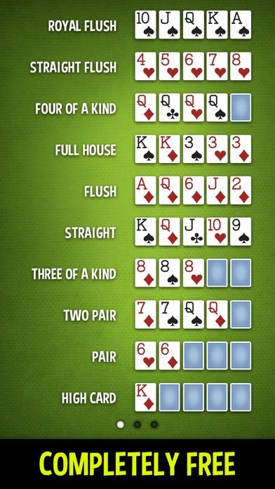 Poker Hands - Learn Poker screenshot one