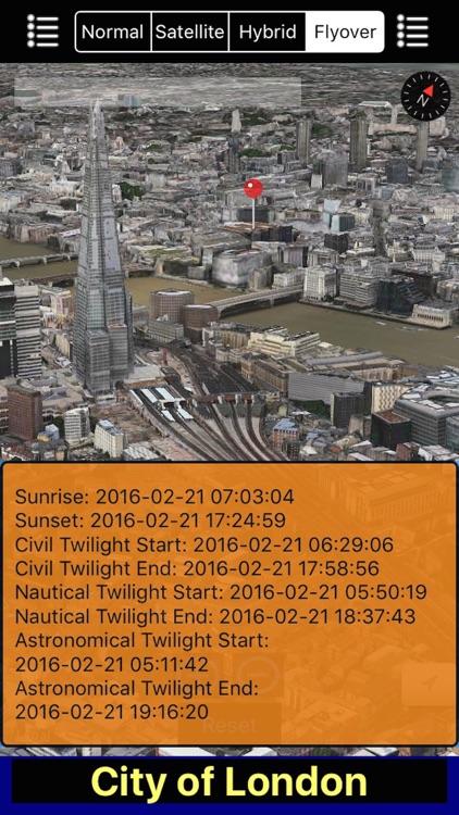 Sunset and Sunrise with NOAA Radar 3D Pro screenshot-3
