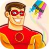 超级英雄填色涂色绘画本 - 幼儿美术教育趣味画册