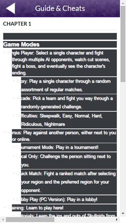 PRO - Skullgirls Version Guide