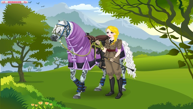 Mary's Horse Dress up - Dress up and make up game for people who