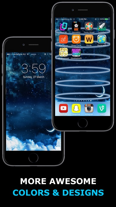 Glow Backgrounds - Customize your Home Screen Wallpaper Screenshot 3