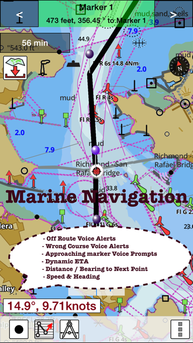 Marine Navigation - Lake Depth Maps - USA - Offline Gps