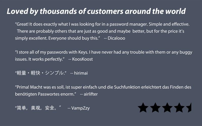 Screenshot #5 for Keys - Password Manager