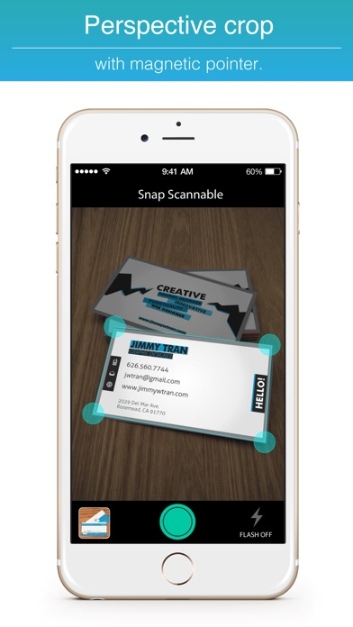Snap Scannable Scan Business Cards Reader Fax File For Traveller