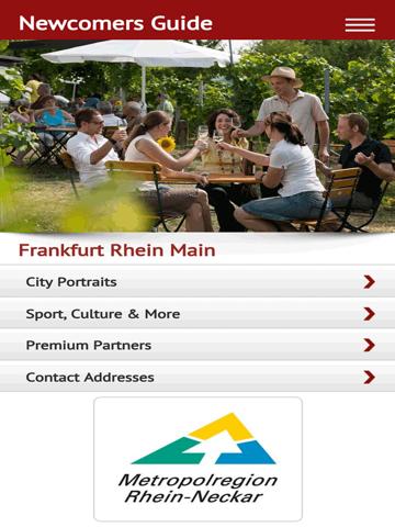 Screenshot of Newcomers Guide Rhine-Neckar Metropolitan Region