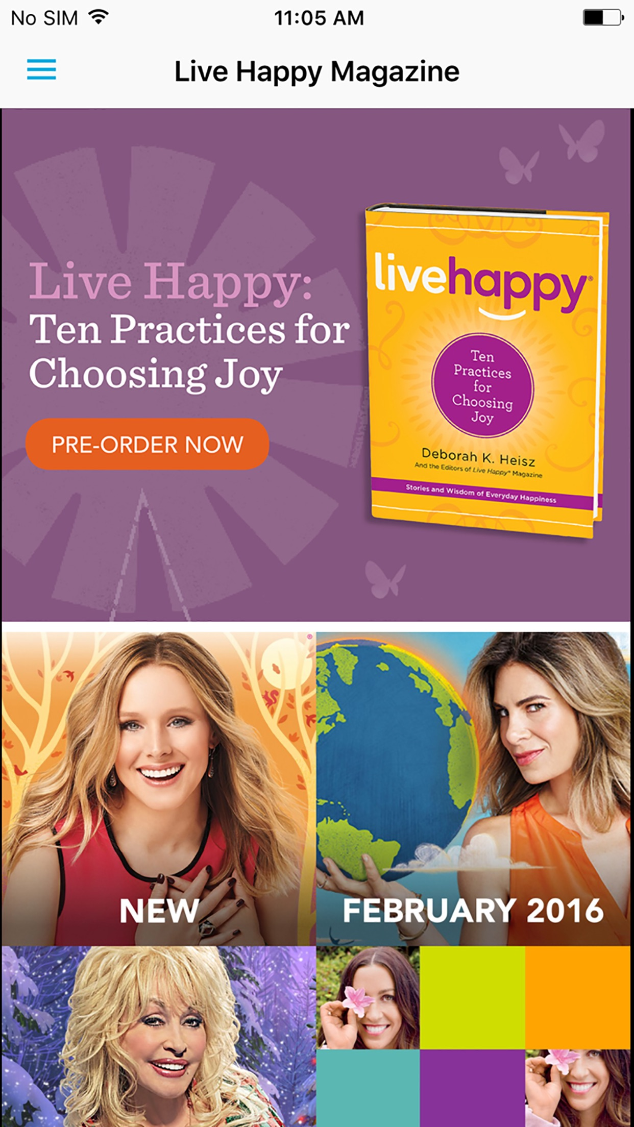 Live Happy Magazine Screenshot