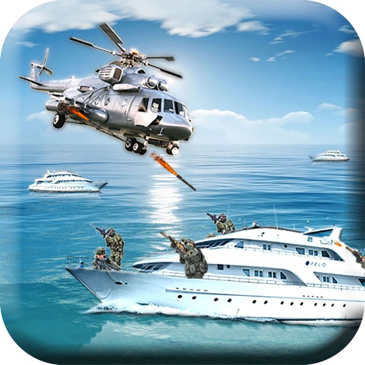 Navy Gunship Helicopter - 3D Battle War Game
