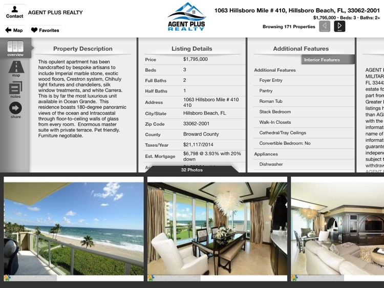 Agent Plus Realty - Search Homes for Sale for iPad screenshot-2