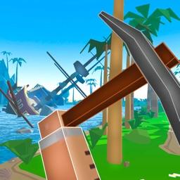 Pixel Pirate Island Survival Simulator 3D Full