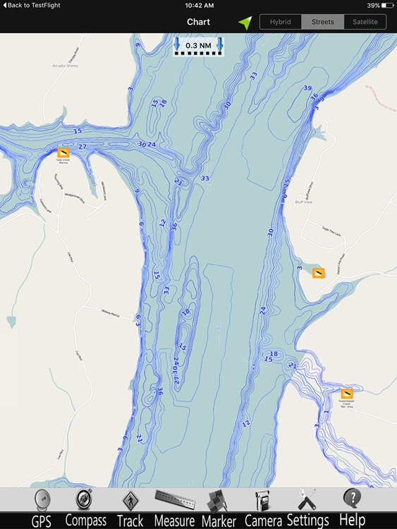 Chickamauga GPS Fishing charts Pro screenshot-3