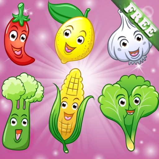 Fruits and Vegetables for Toddlers and Kids : discover the food ! FREE app