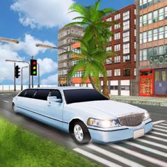 limousine de luxe de taxi ville voiture conduite 3D