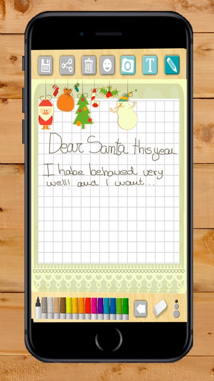 Create letters to Santa Claus (Santa Claus)