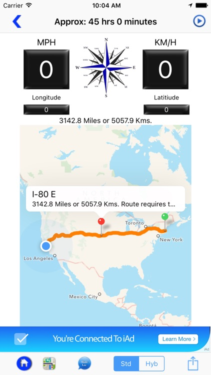 Compass Speedometer Maps screenshot-3