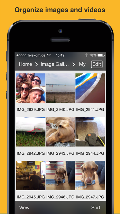 File Manager App screenshot three
