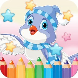 Bird Drawing Coloring Book - Cute Caricature Art Ideas pages for kids