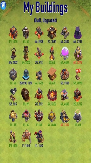 clash of clans all buildings
